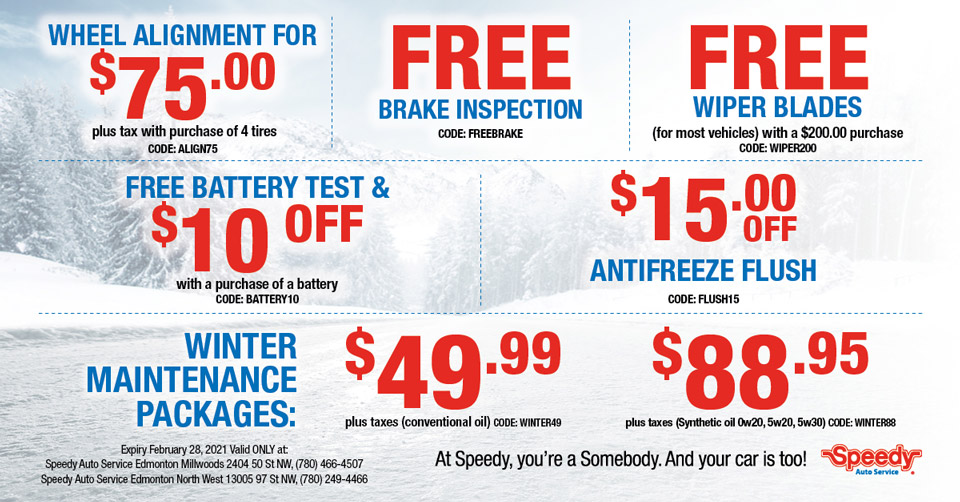 Speedy Auto Service Edmonton - Winter Packages Coupon