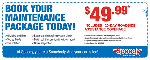 Book Your Maintenance Package Today! - $49.99