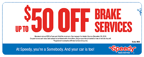 $50 OFF Brake Services