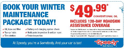 Winter Maintenance - $49.95