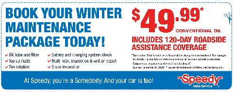 Winter Maintenance - $49.99