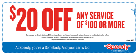 $20 OFF Any Service of $100 or More
